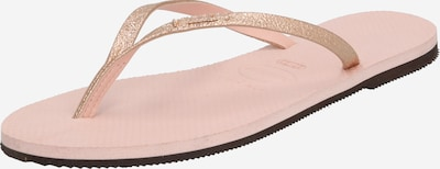 HAVAIANAS T-bar sandals 'YOU SHINE' in Gold / Pink, Item view