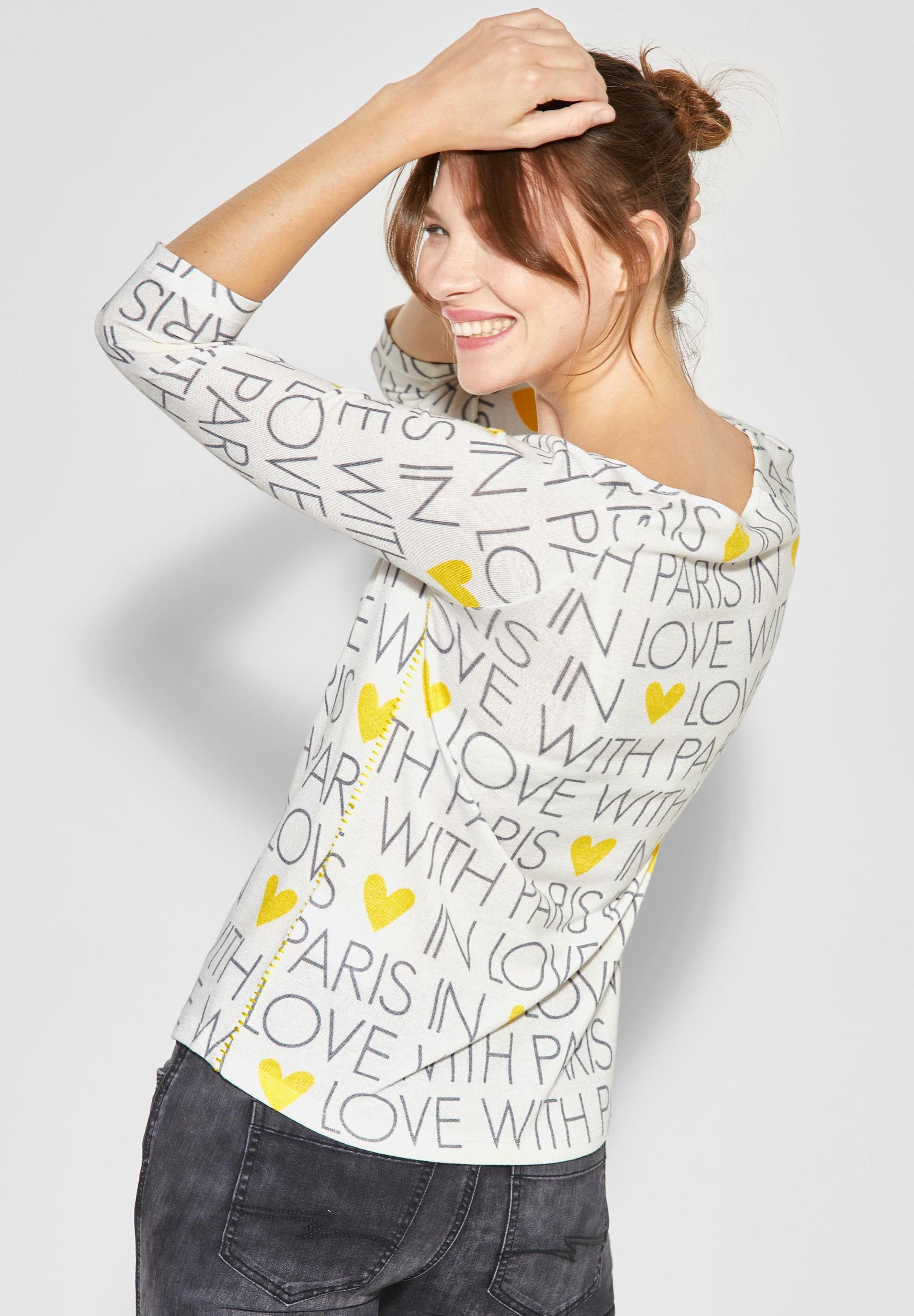 One Wording Street 'bahia' shirt GelbWeiß In 0w8PknO