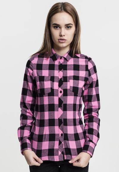 Urban Classics Shirt in pink / schwarz, Modelansicht