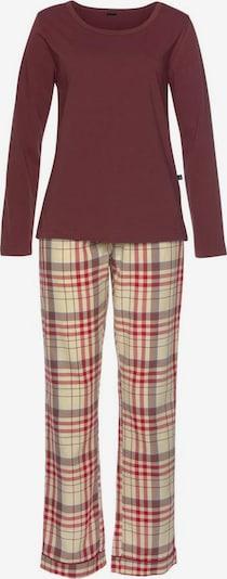 HIS JEANS H.I.S Pyjama in braun / rot, Produktansicht