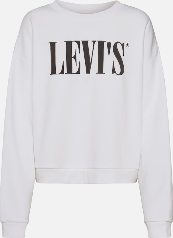 LEVI'S Sweatshirt 'GRAPHIC DIANA CREW' in de kleur Wit, Productweergave