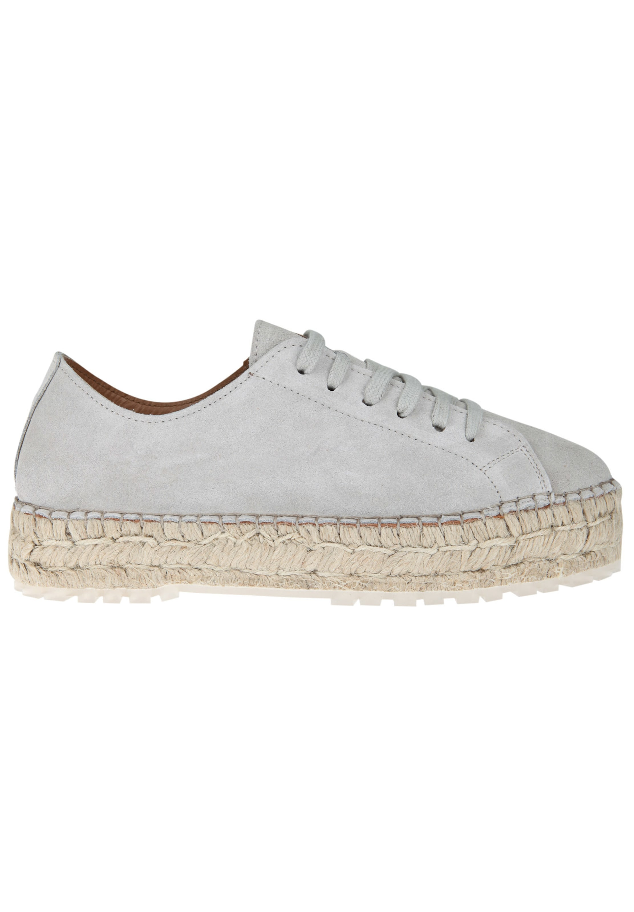 SHABBIES AMSTERDAM Espadrille-Sneaker LACE-UP SUEDE Auslass Empfehlen P8yPM6