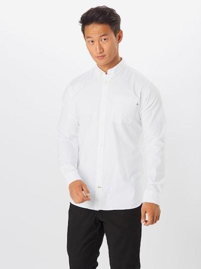 JACK & JONES Hemd 'Oxford' in weiß: Frontalansicht