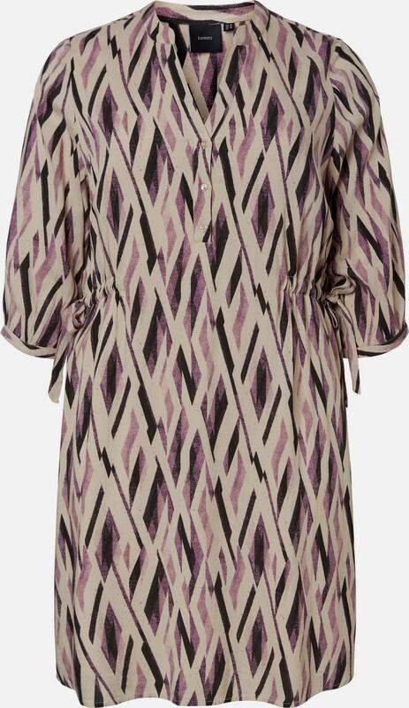 JunaRosa Kleid in cappuccino   helllila   schwarz  Markenkleidung für Männer und Frauen