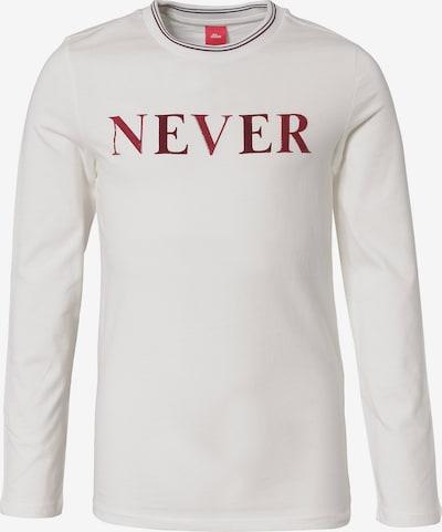 s.Oliver Junior Shirt in weinrot / weiß, Produktansicht