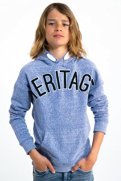 GARCIA Sweatshirt in nachtblau / hellblau: Frontalansicht