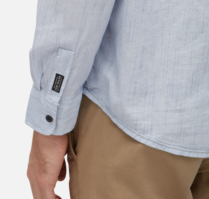 TOM TAILOR Melangiertes Hemd mit Brusttasche