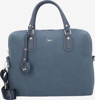 SANSIBAR Handtasche in himmelblau / gold, Produktansicht
