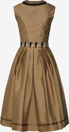 ALMSACH Kleid 'Dirndl' in gold / schwarz: Rückansicht