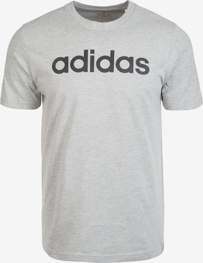 ADIDAS PERFORMANCE Functioneel shirt 'Essentials Linear Logo' in de kleur Grijs gemêleerd / Zwart, Productweergave
