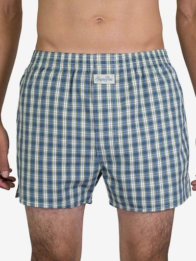 Sugar Pine Boxershorts 'Classic Check' in taubenblau, Modelansicht