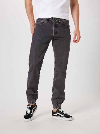 LEVI'S Jeans '501JOGGER' in de kleur Grey denim, Modelweergave