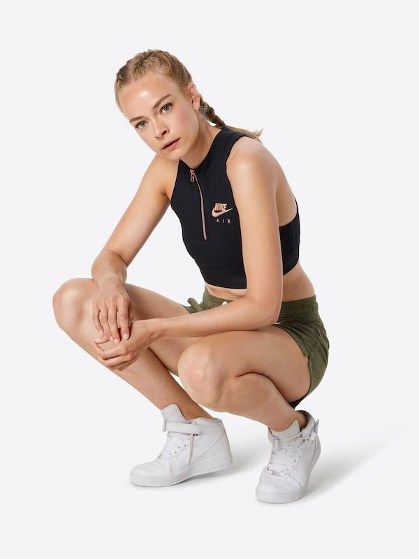 Haut En Noir Nike Sportswear Tank Crop' 'air kZuXiwOPT