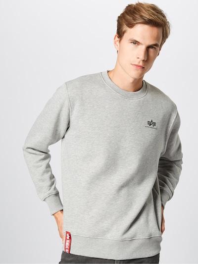 ALPHA INDUSTRIES Sweatshirt in de kleur Grijs gemêleerd: Vooraanzicht