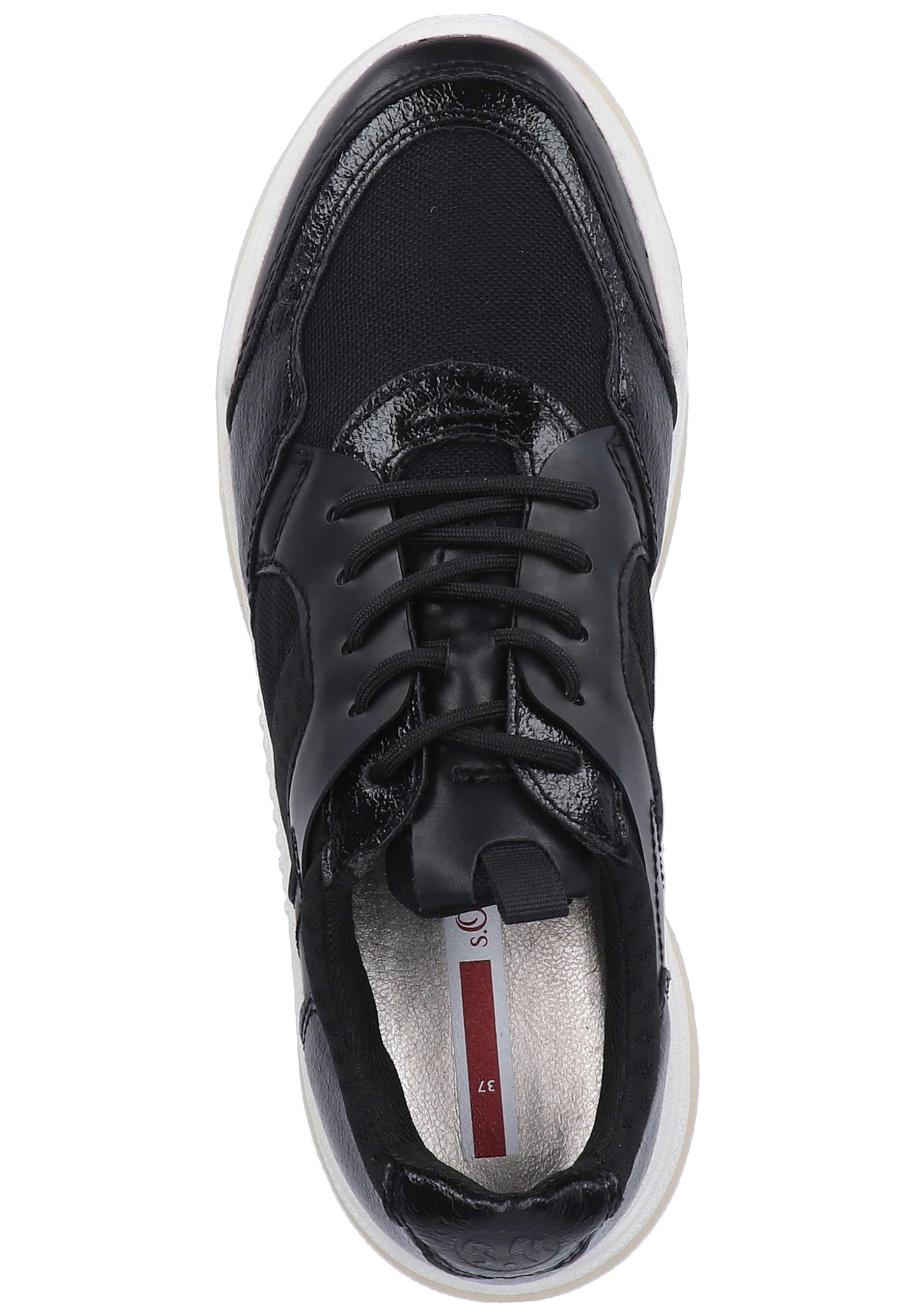 Red In S Label Sneaker oliver Schwarz OZiukXP