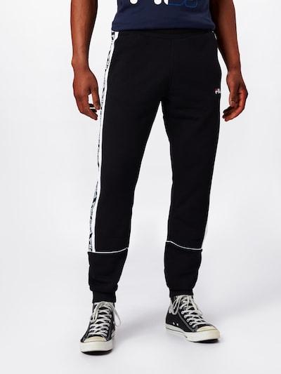 FILA Hose 'TEVIN' in schwarz / weiß, Modelansicht