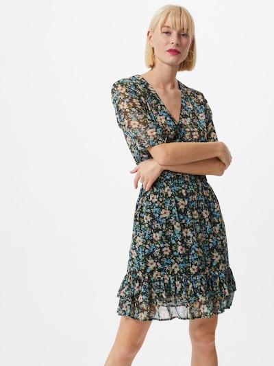 Freebird Kleid 'Emily' in himmelblau / grün / rot / schwarz / weiß, Modelansicht