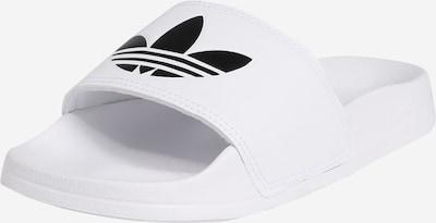 ADIDAS ORIGINALS Open schoenen 'Adilette Lite J' in de kleur Zwart / Wit, Productweergave