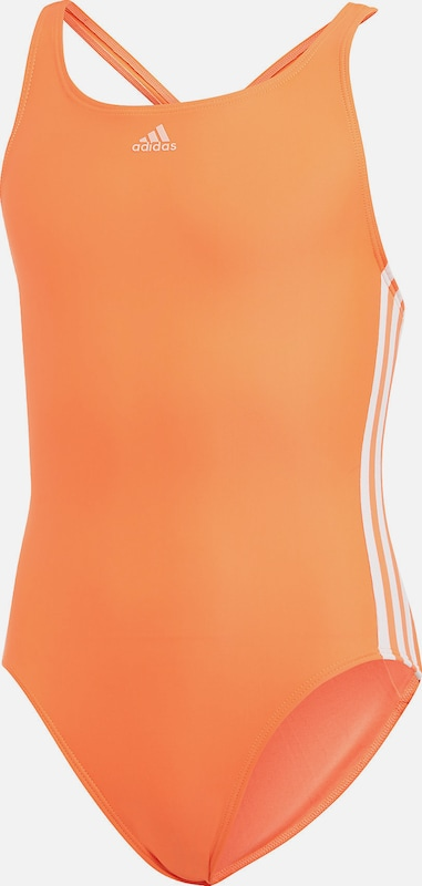 ADIDAS PERFORMANCE Badeanzug 'FIT SUIT 3S Y' in orange / weiß, Produktansicht