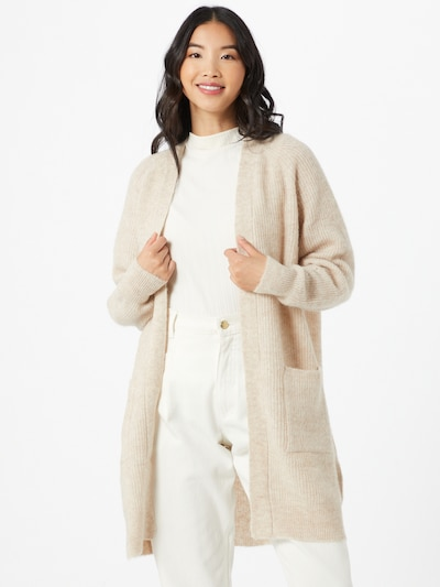 SELECTED FEMME Strickjacke in beige, Modelansicht