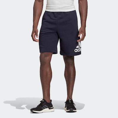 ADIDAS PERFORMANCE Sportovní kalhoty - noční modrá / bílá, Model/ka
