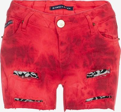 CIPO & BAXX Jeans in de kleur Lichtrood / Zwart, Productweergave