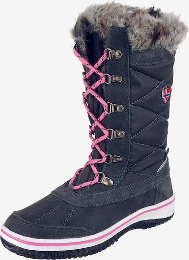 TROLLKIDS Winterstiefel 'HOLMENKOLLEN' in marine / pink, Produktansicht