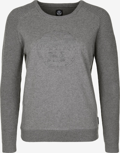 North Sails Strickpullover 'ROUND NECK LOGO' in grau: Frontalansicht