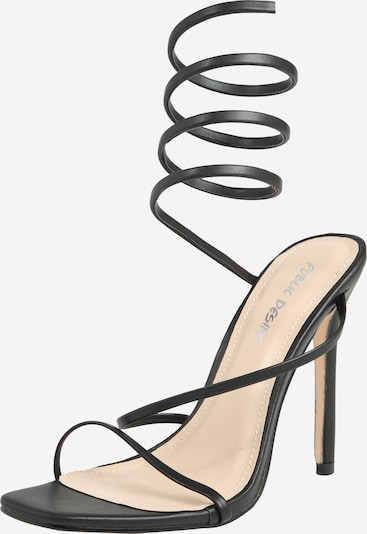 Public Desire Sandale 'CARIS' in schwarz, Produktansicht