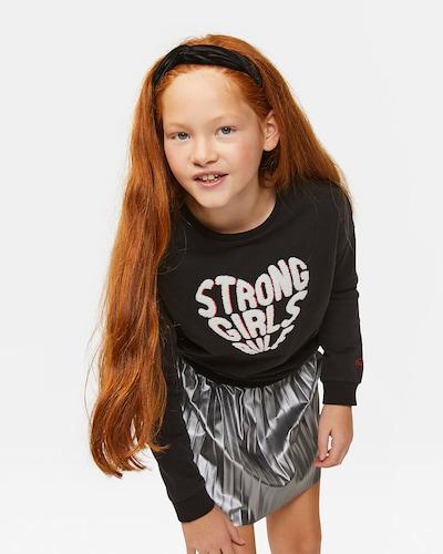 WE Fashion Sweatshirt in schwarz / weiß: Frontalansicht