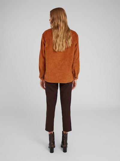 EDITED Pantalon à plis 'Bobby' en brun foncé: Vue de dos