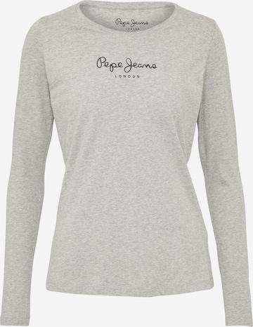 Pepe Jeans Tričko 'NEW VIRGINIA L/S' - Sivá