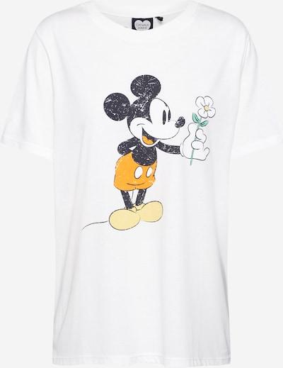 Tricou 'Mickey Flower' CATWALK JUNKIE pe alb, Vizualizare produs