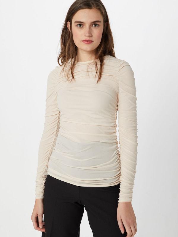 POSTYR Shirt 'POSKRUSEMYNTE LS TEE' in creme  Großer Großer Großer Rabatt def96d