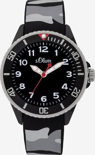 s.Oliver Uhr in grau / hellgrau / schwarz, Produktansicht