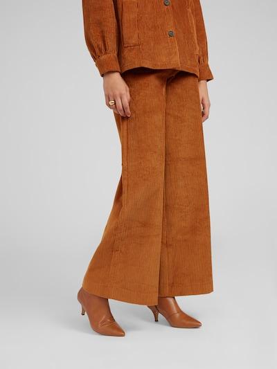 EDITED Pantalon 'Mako' en marron, Vue avec modèle