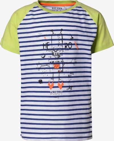 BLUE SEVEN T-Shirt in blau / gelb / weiß, Produktansicht