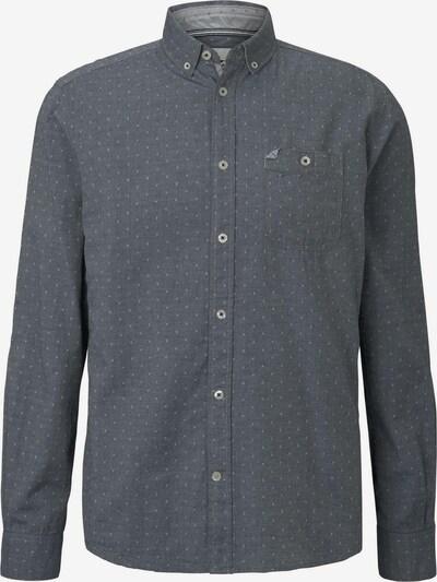 TOM TAILOR Blusen & Shirts Gemustertes Hemd mit geknöpftem Kragen in grau, Produktansicht