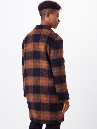 Palton de primăvară-toamnă 'Beanuba' BE EDGY pe maro / negru: Privire spate