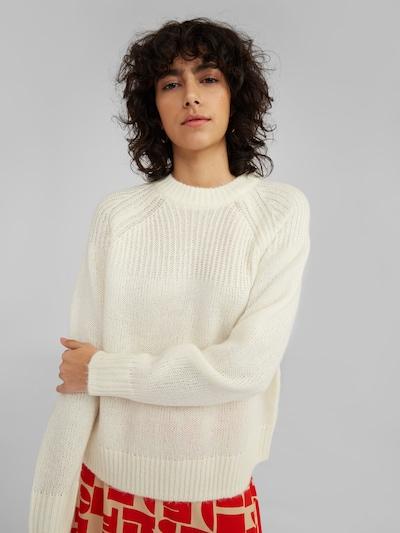 EDITED Pullover in weiß, Modelansicht
