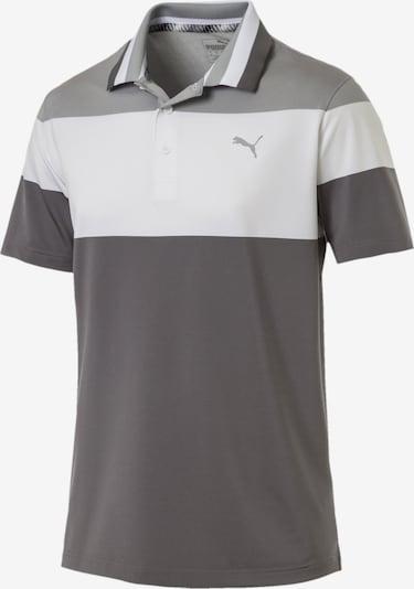PUMA Polo in grau / dunkelgrau / weiß, Produktansicht