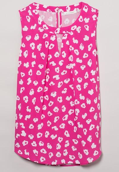 ETERNA ohne Arm Bluse MODERN CLASSIC in pink / weiß, Produktansicht