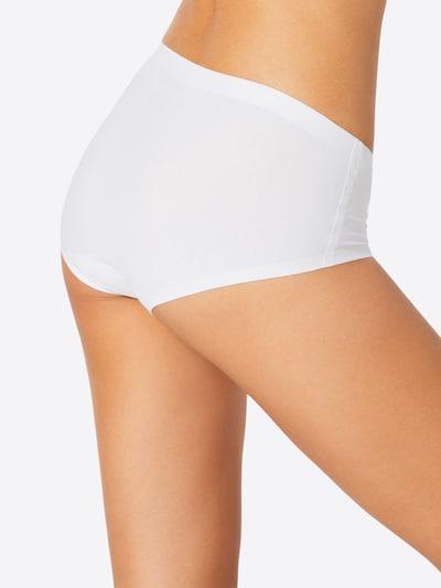 SCHIESSER Panty 'Invisible Cotton' in weiß: Rückansicht