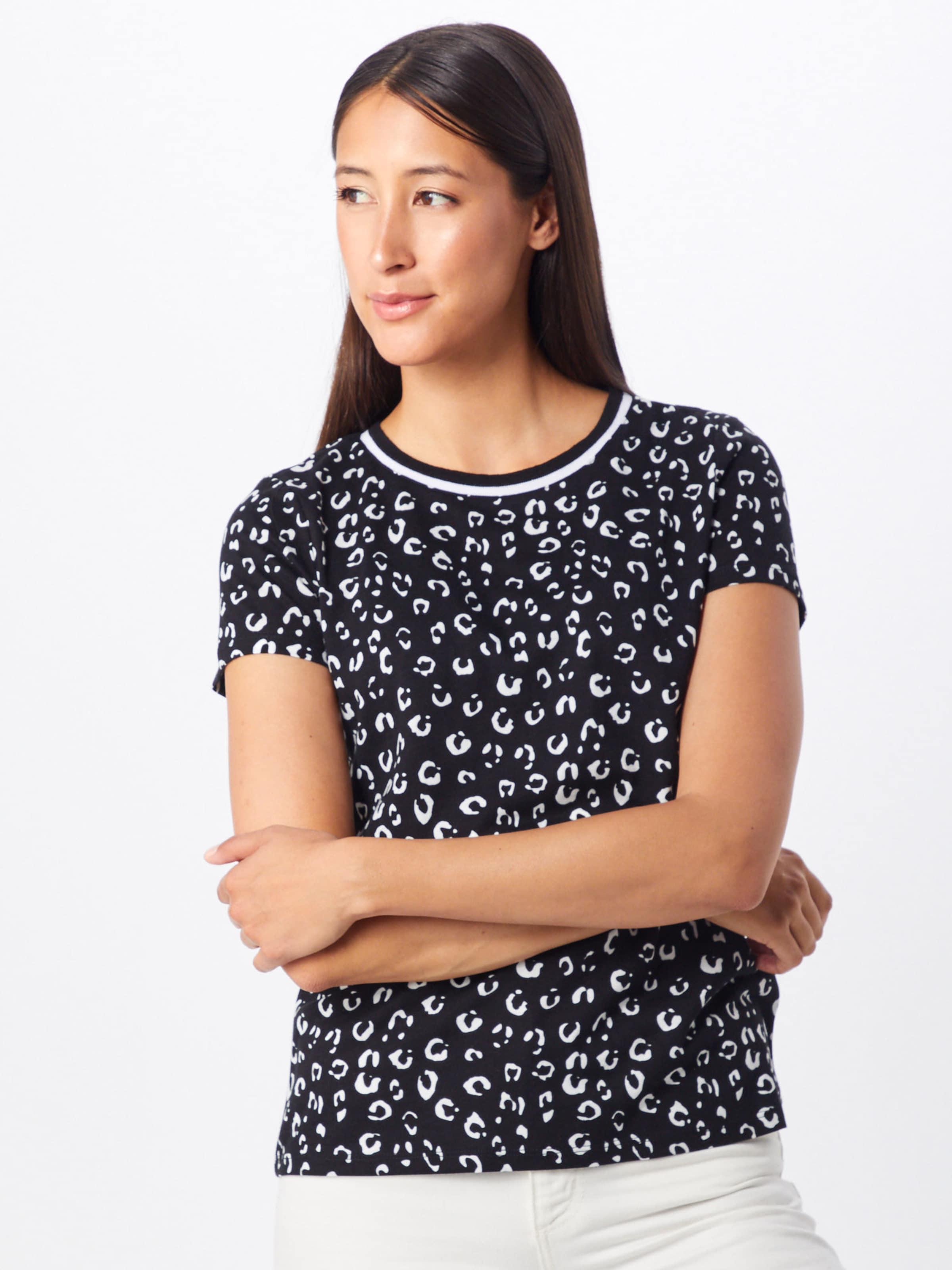 Shirt Esprit Trim Schwarz 'leo In T shirts' kuOTiXPZ