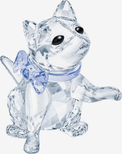 Swarovski Dekofigur 'Kätzchen' in hellblau / schwarz / transparent, Produktansicht
