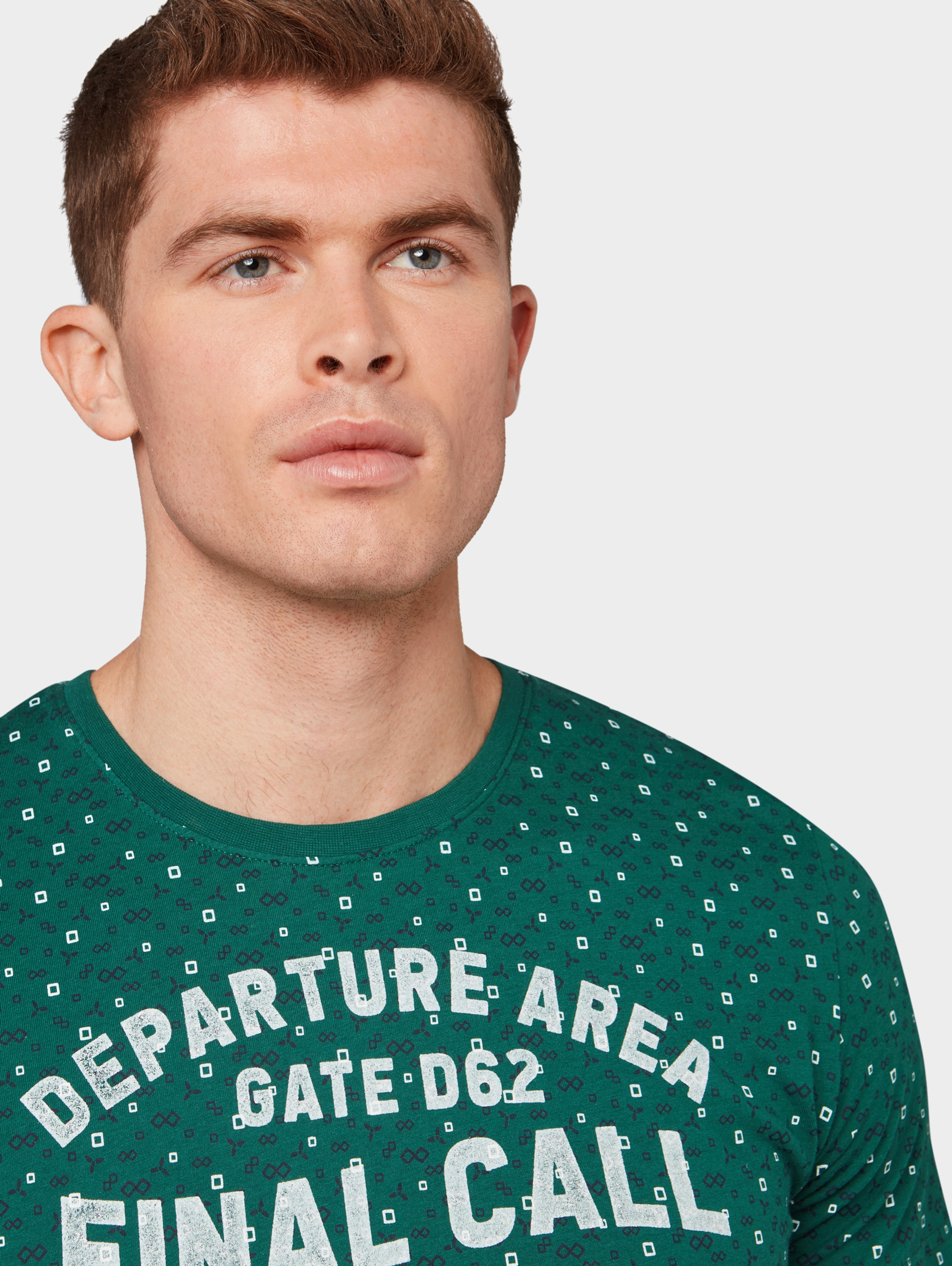 T Mit Tom In Allover Smaragd print shirt Tailor BsQhdxrtC