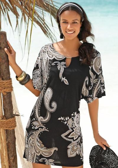 LASCANA Longshirt in beige / braun / schwarz, Modelansicht