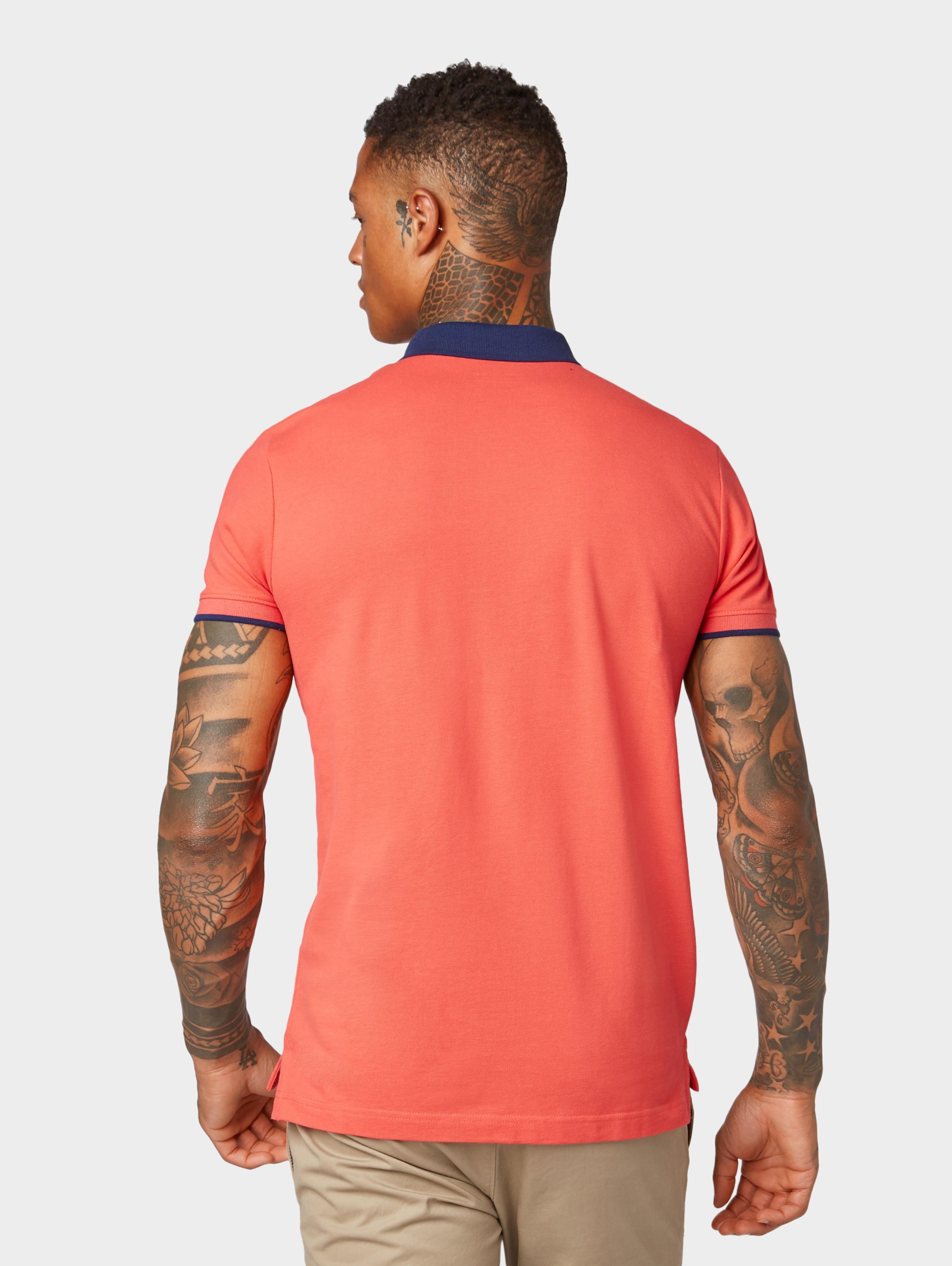 Poloshirt Tom Tailor In Hellorange Denim L54jAR