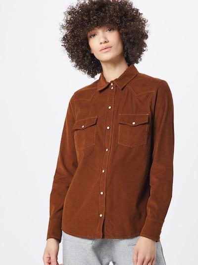 SET Bluse in braun, Modelansicht