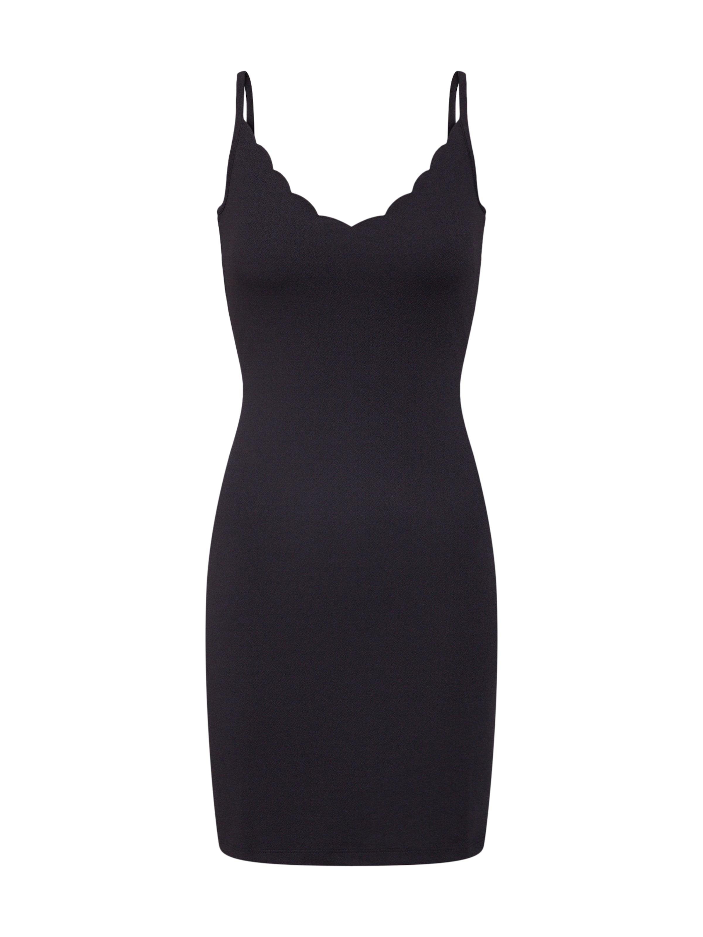 Robe Dress' Noir En Even amp;odd 'scallop Bodycon ZPOiuTkX